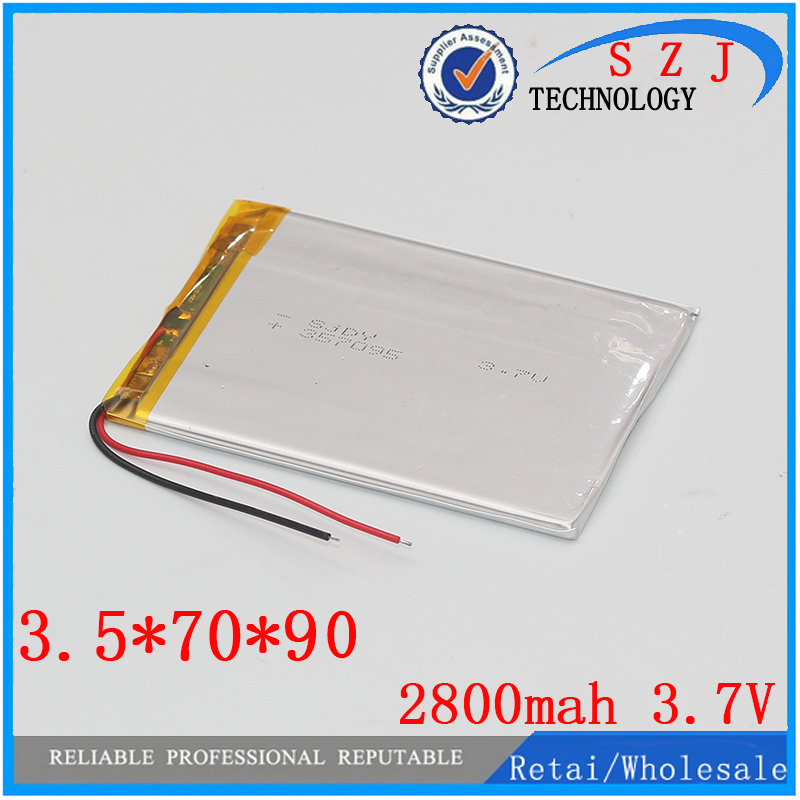 Polymer lithium ion battery 3.7 V, 357090 can be customized wholesale CE FCC ROHS MSDS quality certification Free shipping wholesale 504260 3 7v lithium polymer battery length 60 width 42 thickness 5mm