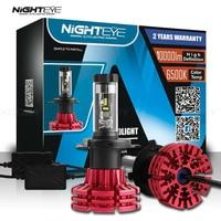 Nighteye 9003 Hb2 H4 Led Car Lights Hi Low Beam 10000lm Automobiles Bulbs 12v 60w Led