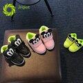 Jrqiot 2017 primavera niños shoes mickey pu de la historieta llevó luces intermitentes plana con solo algodón niños girl shoes