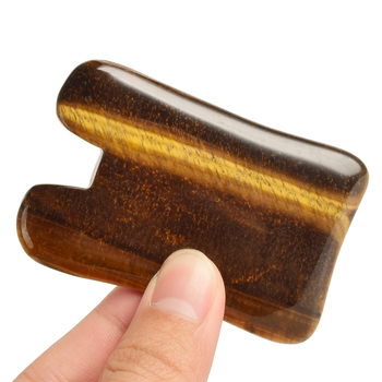 Natural Tiger Eye guasha Tool Face Foot Back Head Acupuncture Massage  Scraping Health Care SPA Therapy Stone