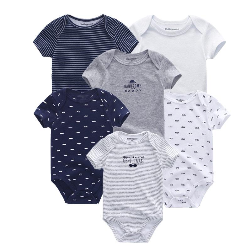 2021 6PCS/Set Unisex Newborn Baby Boy Clothes Unicorn Cotton Baby Girl Clothes Cartoon Girls Baby Clothing Jumpsuits Bodysuits 2