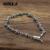 100% Auténtica Plata de Ley 925 de La Vendimia del lirio corona del cráneo Punky enlace Pulsera de Cadena de Joyería de Plata Tailandesa para Hombre o Mujer joyería
