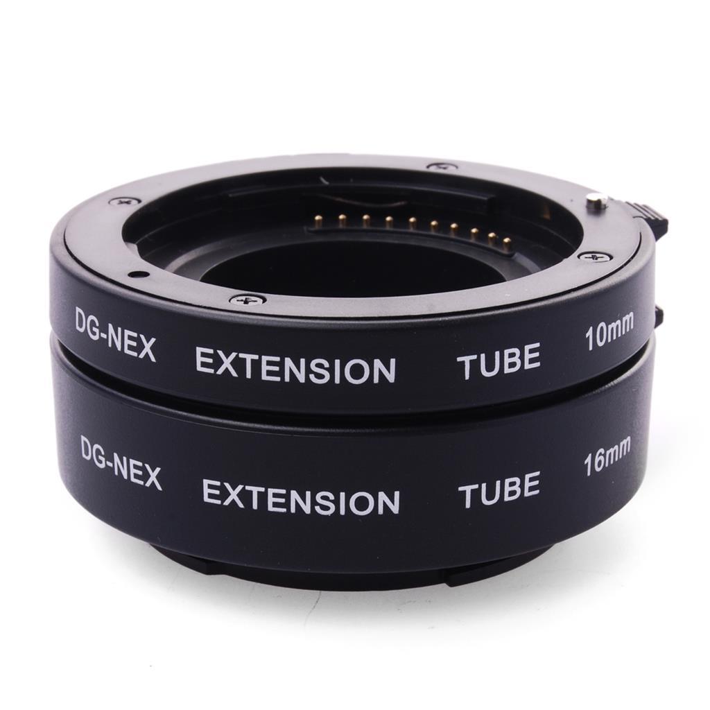Prix pour AF Macro Extension Tube Set Autofocus DG Ensemble 10mm 16mm Lens Adapter pour Sony E A6000 A5000 NEX-3N NEX-5R C3 LF434