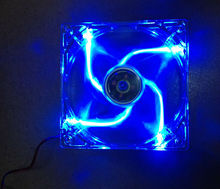 NEW 12cm computer case fan silent Blue led colorful fan with package 4pin