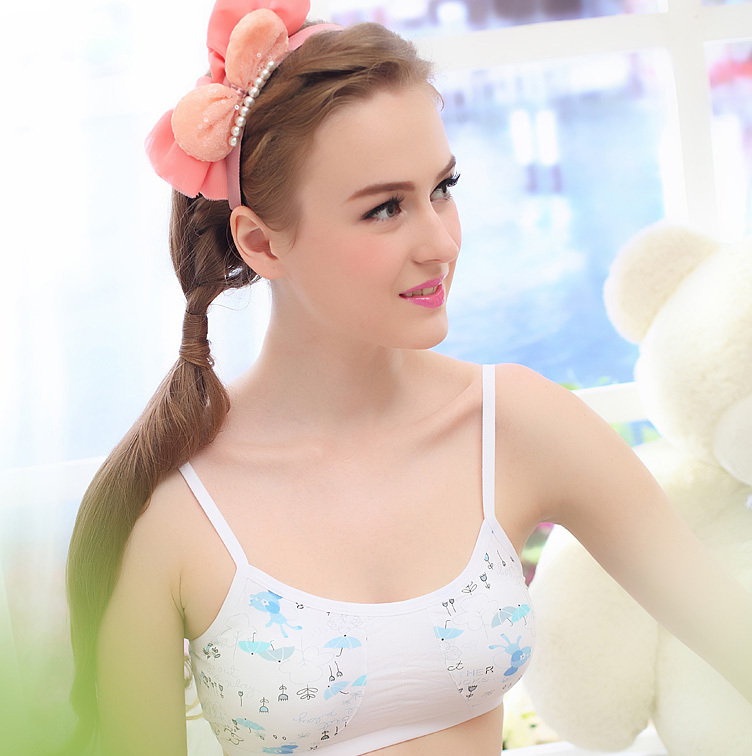 2015 girls bra cartoon young underwear Sports young girl