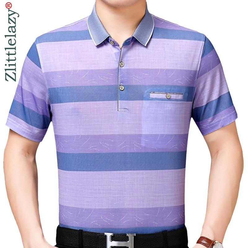2019 Brand Casual Pocket Summer Striped Short Sleeve Polo Shirt Men Poloshirt Jersey Mens Polos Tee Shirts Dress Fashions 50508