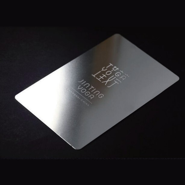 Custom metal business card laser engraved 100pcs lot high end metal gym bar membership card free shipping in Business Cards from Office School Supplies