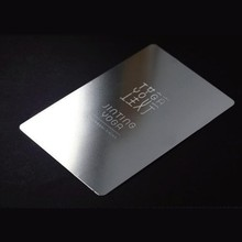Custom metal business card laser engraved 100pcs/lot high-end id free shipping