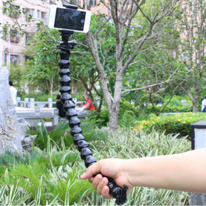 Image 2 - 45cm Jaws  Clamp Mount and Adjustable Neck for GOPRO Accessories For Camera Hero 1/2/3/3+/4 5 sj4000/5000/6000 Mini Tripod