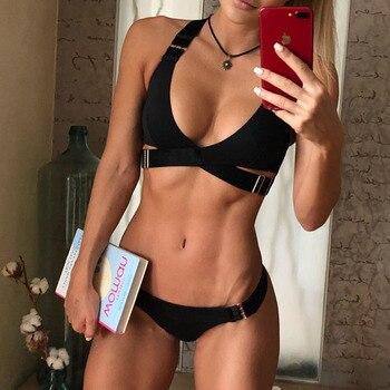 17ced33cf1a9 CALOFE las mujeres traje de baño punto Biquinis Bikini 2019 Sexy Bikini  cintura alta de traje de ...