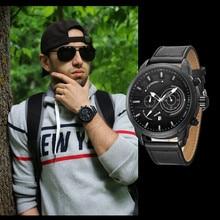 Mens Watches SINOBI Top Brand Luxury Waterproof Luminous Japanese Quartz Wristwatch Man Fashion Leather Sports Watch Men Clock