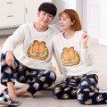 Antumn e Invierno de Los Hombres Ocasionales Mujeres de Los Pijamas Pijamas ropa de Dormir Home Use Ropa de Franela Caliente de Espesor