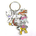 Hot Cartoon Pokemon Pocket Monster Mew Shaymin Meowth Psyduck Charmander Entei Suicune Raikou Lugia Eevee family keyring