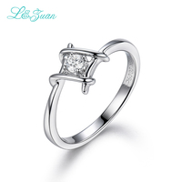 L & טבעות תכשיטי 18 K זהב לבן לנשים אמיתיות zuan 0.09ct טבעי טבעות יהלומים לבנים נקבה ולנטיין מתנה טבעות טבעת נישואים