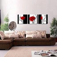 Đen Trắng Đỏ Rose Sơn Kim Cương 3 cái Thêu Đính Cườm Chéo Khâu Đầy Đủ Vòng Kim Cương Handmade Vá Trang Trí Tường