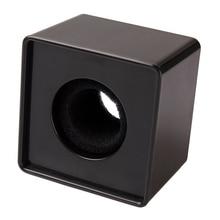 Топ 1 шт. Черный ABS Mic интервью с микрофоном квадратный логотип флаг станция