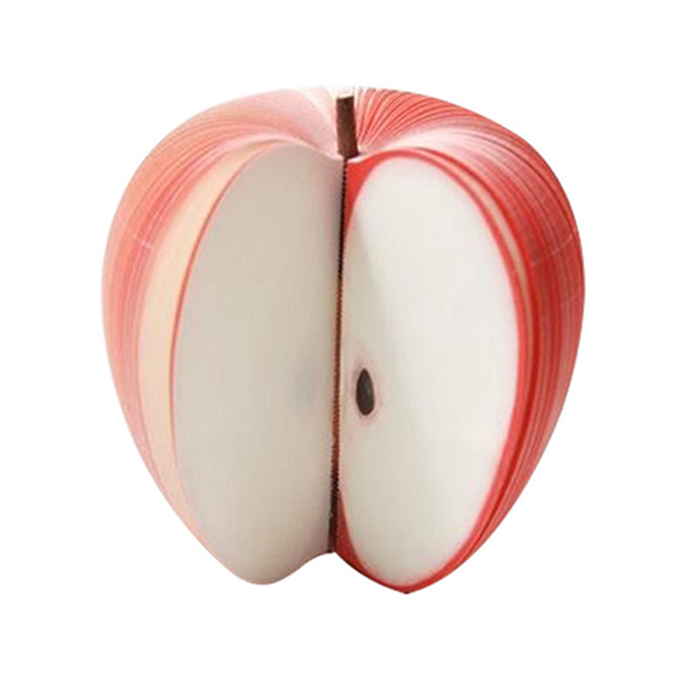 New Cute Fruit Shape Apple Pear Not Sticky Memo Pad Paper Note Office School Stationery