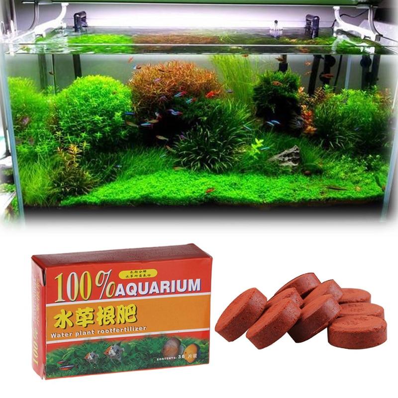 12 или 36 Планшеты водяное растение для аквариума удобрений с активным железо Марганец аквариум удобрение для прикорневого внесения для воды...