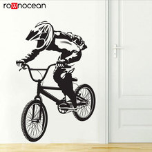 Bicycle Bike Cyclists BMX FREESTYLE Hobby Vinyl Wall Sticker Home Decor For Boys Room Removable Art Decal Mural Wallpaper 3384