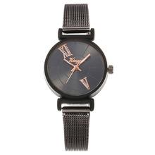 Piękne kobiety zegarki ze stopu stali pasek na co dzień zegarek genewa proste siatki pasek zegarek wspaniały zegar kobiety zegarki na rękę Relojes tanie tanio Ukryte zapięcie 20mm Odporny na wstrząsy QUARTZ 24mm Okrągły 3Bar Wristwatches 40mm Moda casual 24cm Nie pakiet saatleri