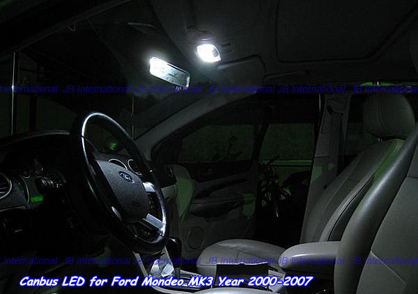 car canbus parking led interior lights lamps kit xenon cool white for ford mondeo mk3 2001 2007. Black Bedroom Furniture Sets. Home Design Ideas