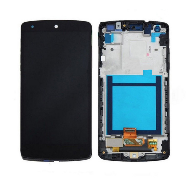 For LG Google Nexus 5 D820 D821 LCD display Touch Screen Digitizer Assembly with Frame in stock for lg google nexus 5 d820 d821 lcd touch screen digitizer with frame assembly black