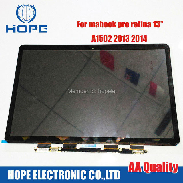 Nueva pantalla lcd portátil original para apple macbook retina 13 ''a1502 2013 2014 retina lcd