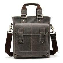 26525d09dc553 Moda postacı çantası erkekler Çanta Hakiki Deri Küçük Crossbody Çanta Iş  Erkek Dikey bölüm Kovboy askılı çanta