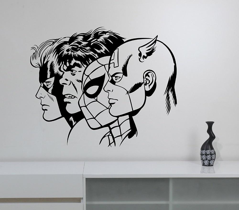 Online Get Cheap Hulk Wall Decals Aliexpresscom Alibaba Group - Superhero vinyl wall decals