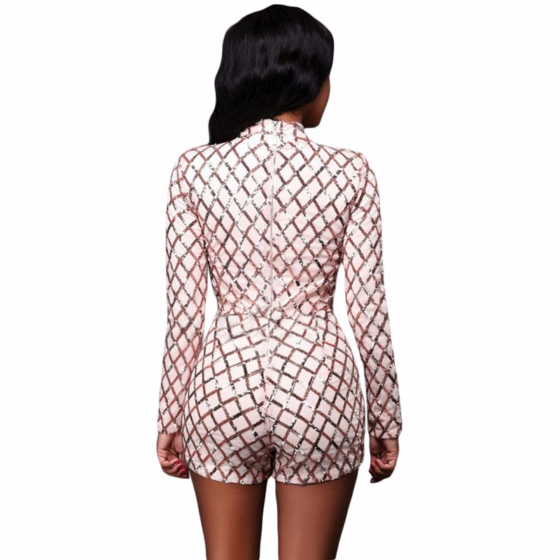 Pink-Diamond-Sequins-Long-Sleeves-Romper-LC64189-10-4