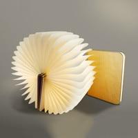 Fashion 4 5W Wooden Folding LED Nightlight Booklight LED Folding Usb Book Light Art Reading Lamp