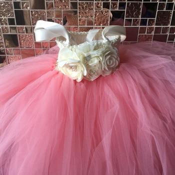 Flower Girl Tutu Dress Ankle-Length Prin...