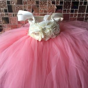 Image 2 - Çiçek kız Tutu elbise ayak bileği uzunlukta prenses tül çocuklar Tutu kızlar için elbiseler düğün parti elbise çocuk Pageant balo elbisesi