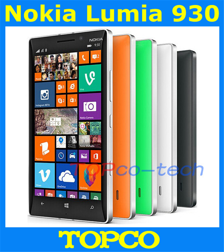 bilder für Original Nokia Lumia 930 Freigesetzter Windows Mobile Phone 8,1 GSM 3G & 4G 5,0 ''20MP WIFI GPS 32 GB internen Speicher Dropshipping