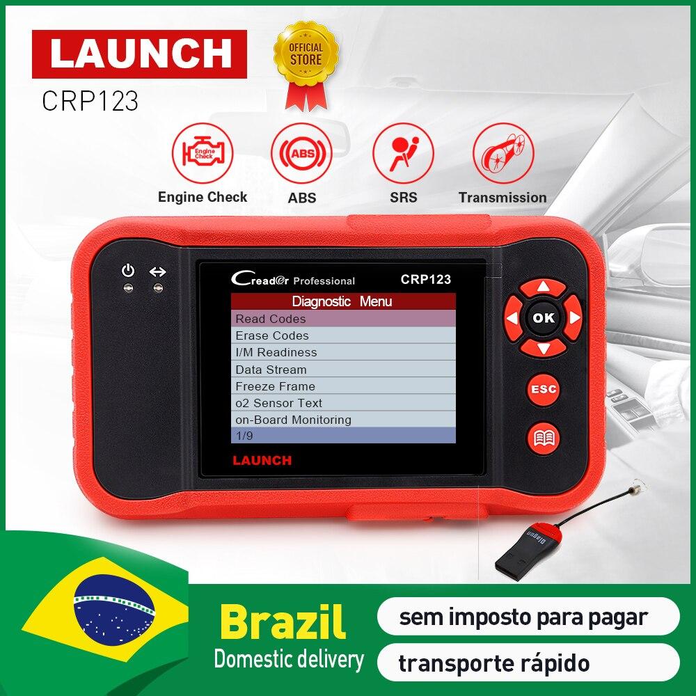 LAUNCH Creader CRP123 Professional OBD2 Code Reader Scanner X431 CRP 123 Auto diagnostic tool pk Creader VII+ Easydiag 3.0 AD610 оригинальный launch creader vi поддержка нескольких языков creader 6 obd2 code reader обновление онлайн