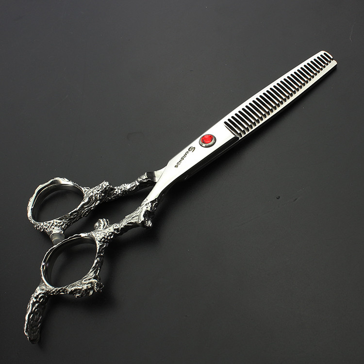 Купить с кэшбэком Genuine Dragon Shears Hair scissors Barber shop professional Scissors flat cut 6 inch hairdresser special Haircut scissors Set