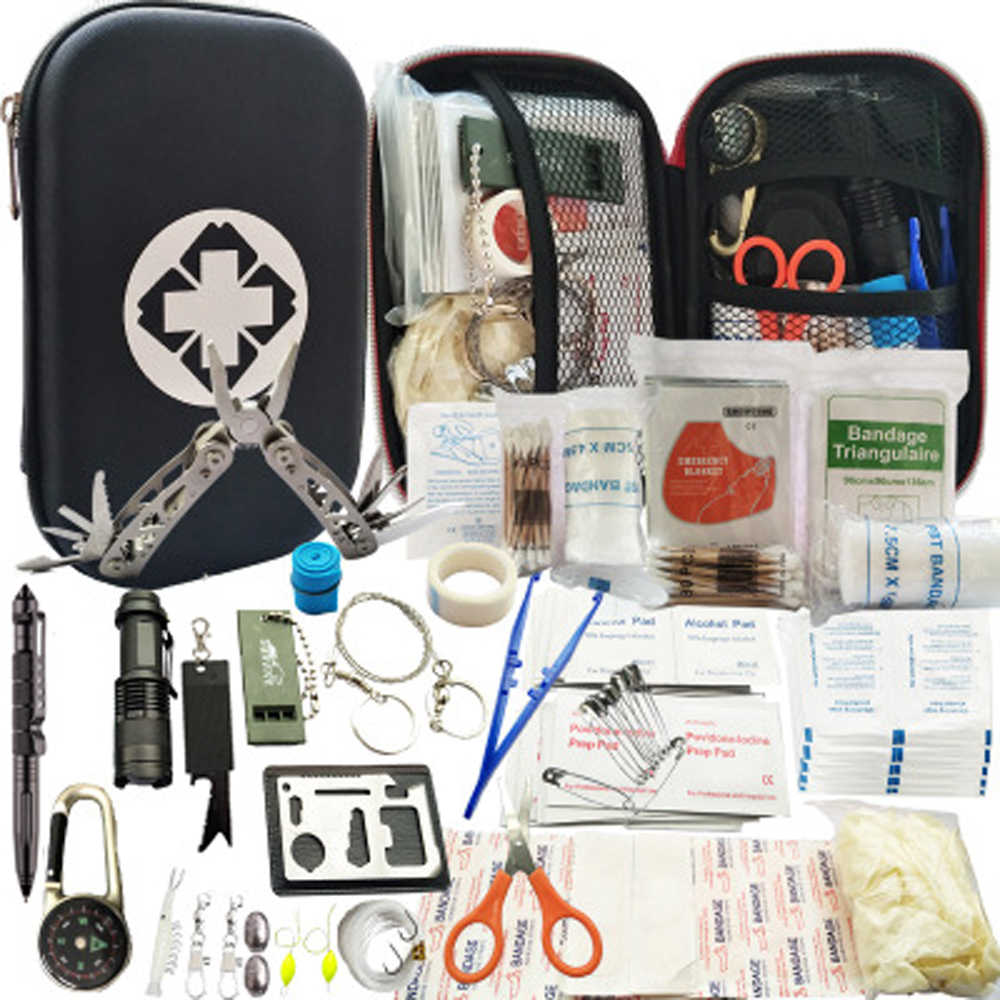 2 Pack Outdoor Emergency Kit Survival First Aid Bag SOS Camping Tactical Tool US