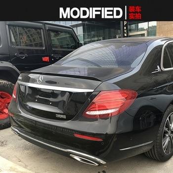 E Class Carbon fiber Rear Trunk Boot Spoiler Wing for Mercedes Benz W213 E200 E300 E400 E550 E63 AMG Sedan 4 Door 2016 2017
