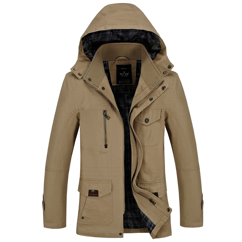 Jacket Men New Spring Autumn Outerwear Windbreaker Man Hooded Coat Males Casual Clothes Size M 4XL-in Jackets from Men's Clothing    1