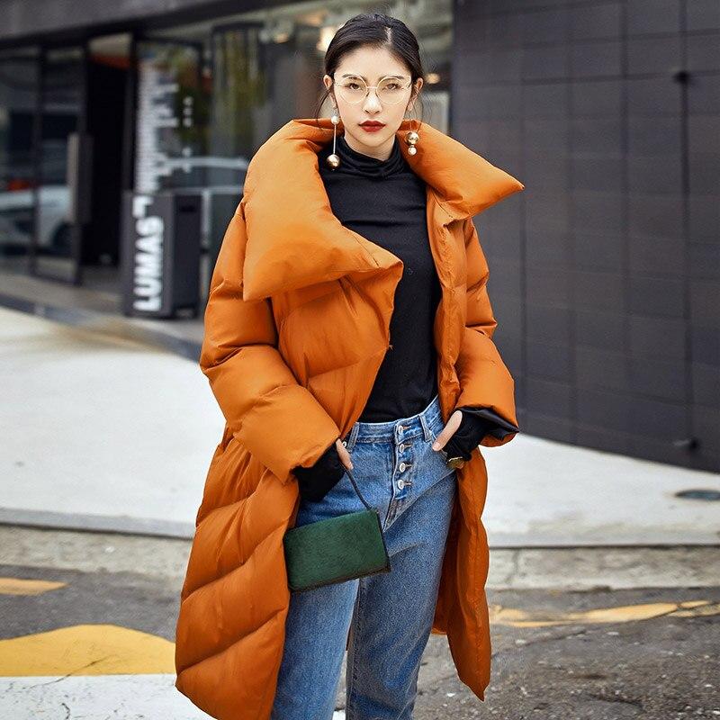 Lâche Femmes Couleur Long Mode Épaissir Le Vintage Bureau Color Vers Parkas Chaud Picture Ceinture D'hiver Bas Style Manteau Solide Tournent Femelle Q367 Lady qw6z7xwA