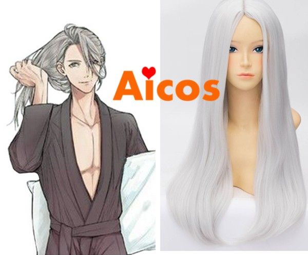 on ICE Viktor Nikiforov Cosplay Wig Long Hair Young Victor Halloween Cos YURI!!