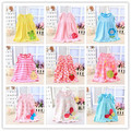 2015 moda lovely baby girls dress dress infantil niños ropa de algodón de verano sin mangas impresa flor dress