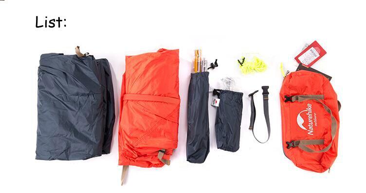 Naturehike ciclismo mochila tenda ultraleve 20d 210 t para 1 pessoa NH18A095-D