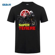 ФОТО gildan 2018 100% cotton summer mens hot sale t shirt super tenere t-shirt xtz 1200 super tenere tee shirt
