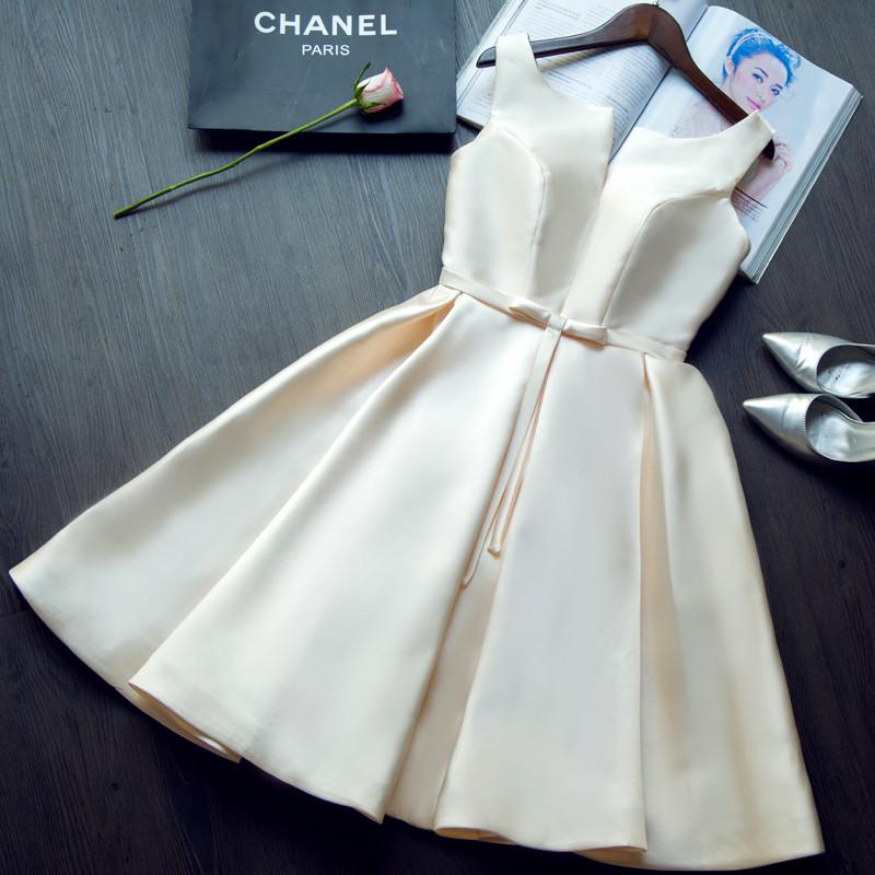 2015-new-design-A-line-short-dresses-V-opening-back-cocktail-party-lace-up-dress-veatidos