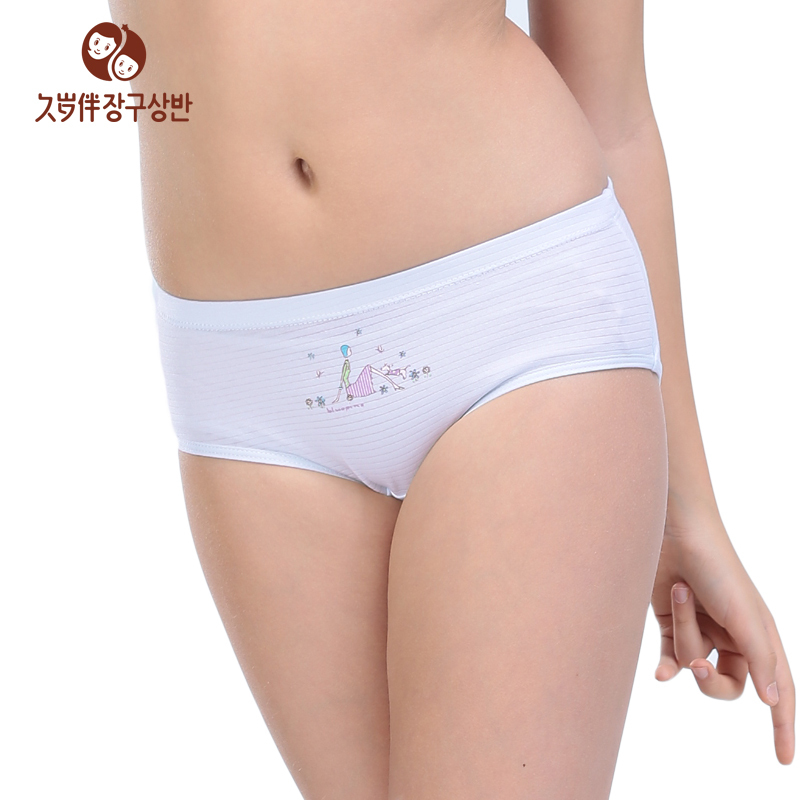 Young Girl Solid Underwear Kids Inner Panties Children Hip -6632