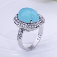 Huitan Ethnic Cocktail Party Ring For Ladies Prong Setting Micro Paved Vintage Wedding Engagement Elegant Finger