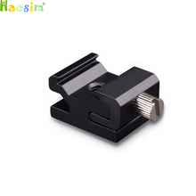 10 Stks/partij Camera Metalen Koude Schoen Hot Shoe Flash Bracket Mount Adapter Met 1/4 Statief Schroef Light Stand Statief