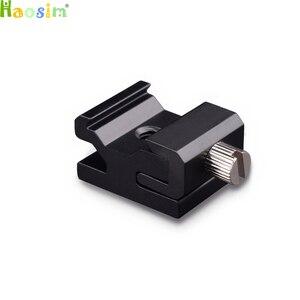 Image 1 - 10pcs/lot Camera Metal Cold Shoe Hot Shoe Flash Bracket Mount Adapter With 1/4 Tripod Screw To Light Stand Tripod