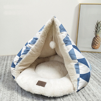 Pet Cat Bed Nest Deep Sleeping Kennels Winter Warming Thicken Soft Pet Cat House for Small Cats Cozy Kitten Bed Cave Basket Bags